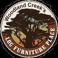 cedar log bench with bench pad